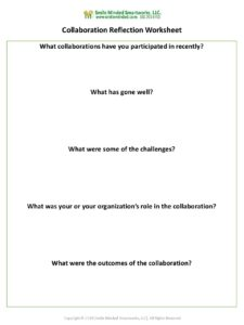 collaboration reflection worksheet - Reflection Worksheet